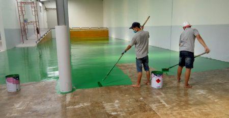 Phủ lớp 2 lên bề mặt sàn