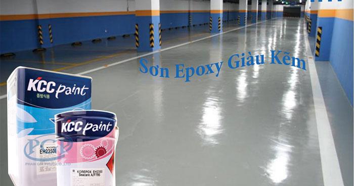 Sơn Epoxy KCC Giàu Kẽm